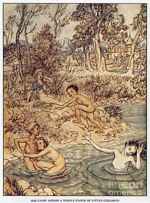 Little Girls Nude Painting - Andersen: Little Mermaid by Granger