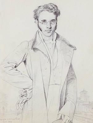 Portraits Drawing - Andre-benoit Barreau, Dit Taurel by Jean Auguste Dominique Ingres