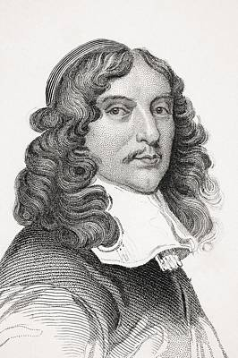 Andrew Marvell 1621-1678 English Print by Vintage Design Pics