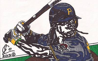 Major League Drawing - Andrew Mccutchen 1 by Jeremiah Colley