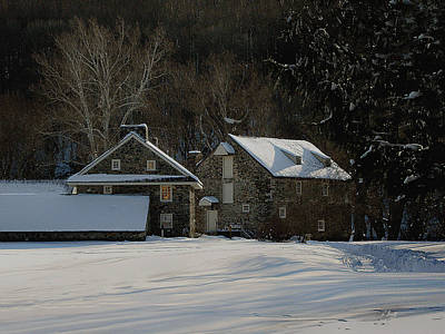 Stone Barn Photograph - Andrew Wyeth Estate In Winter by Gordon Beck