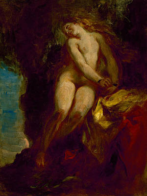 Andromeda Print by Eugene Delacroix