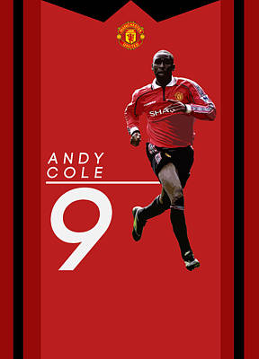 Wayne Rooney Digital Art - Andy Cole by Semih Yurdabak