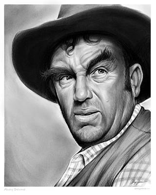 Hollywood Drawing - Andy Devine by Greg Joens
