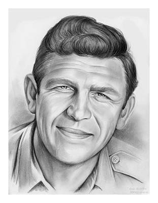 North Carolina Drawing - Andy Griffith by Greg Joens