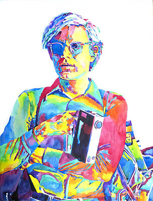 Warhol Painting - Andy Warhol - Media Man by David Lloyd Glover