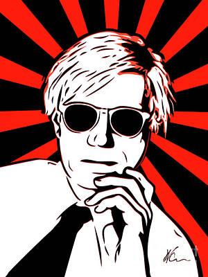 Popart Digital Art - Andy Warhol - Pop Art by William Cuccio aka WCSmack
