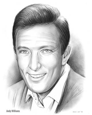 Singer Drawing - Andy Williams by Greg Joens