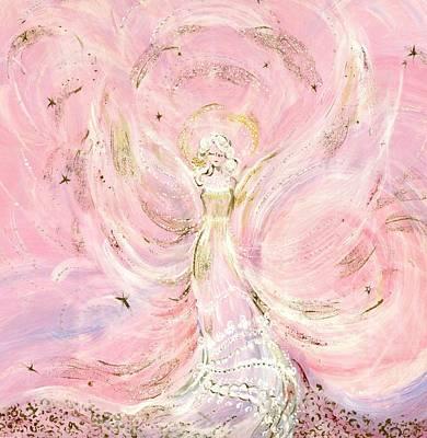 Angel Painting - Angel Bride by Rosemary Babikan