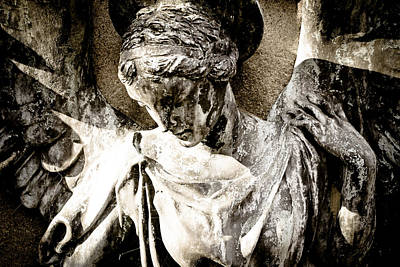 Religious Angel Art Photograph - Angel -  Cemetery Art by Colleen Kammerer