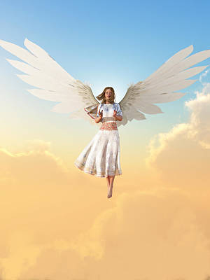 Angel Print by Christian Art