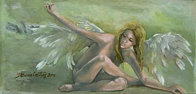 Dreams Painting - Angel by Dorina  Costras