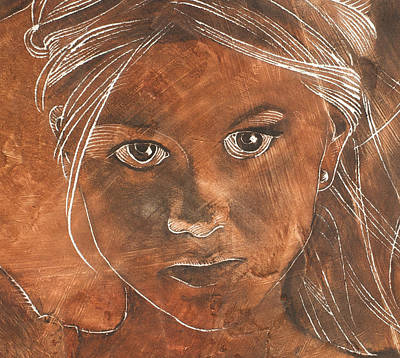Angel In Process Head Detail Print by Richard Hoedl