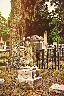 Savannah Photograph - Angel In Stone by JAMART Photography