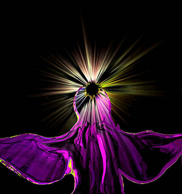 Innocent Angels Digital Art - Angel In The Night by Abstract Angel Artist Stephen K