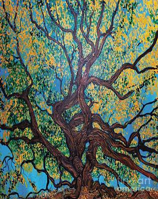 Tree Roots Painting - Angel Oak Young by Stefan Duncan