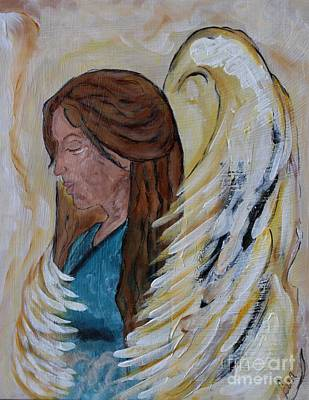 Spiritual Portrait Of Woman Painting - Angel Of Comfort by Ella Kaye Dickey