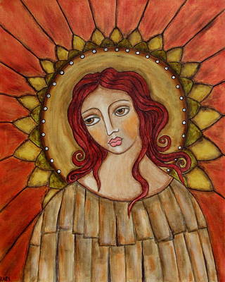 Christian Art . Devotional Art Painting - Angel Of Nature by Rain Ririn