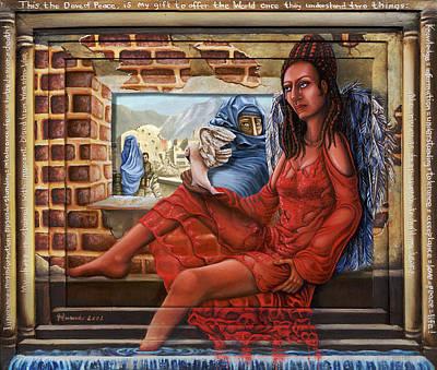 Iraq War Painting - Angel Of Peace by Karen Musick