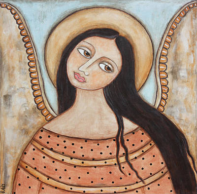 Christian Art . Devotional Art Painting - Angel Of Silence by Rain Ririn