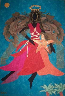 Painting - Angel Of The Caribbean by Valerie X Armstrong