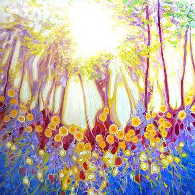 Angel Of The Spring Wood- Abstract Landscape Original by Gill Bustamante