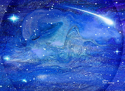 Universe Painting - Angel Of The Universe by Sherri  Of Palm Springs