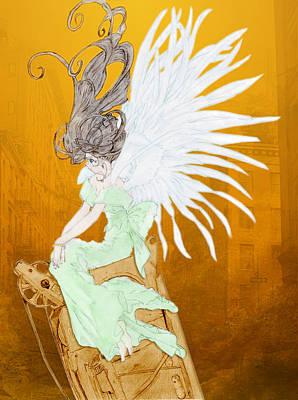 Angel Print by Shawn Dall
