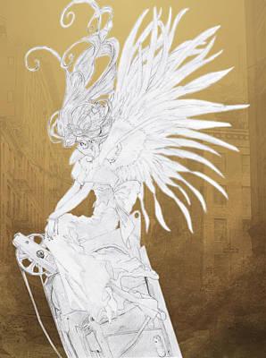 Angel Statue Print by Shawn Dall