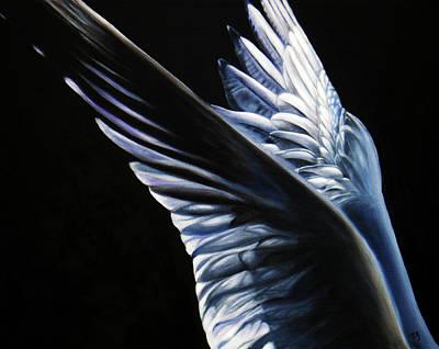 Black Bird.flying Art Painting - Angel Wings by Sun Sohovich