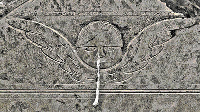 Birds In Graveyard Photograph - Angel With A Runny Nose 2 by Jean Hall