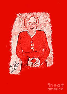 Angela Merkel German Chancellor 1 Print by Richard W Linford
