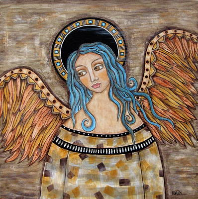 Christian Art . Devotional Art Painting - Angelica by Rain Ririn