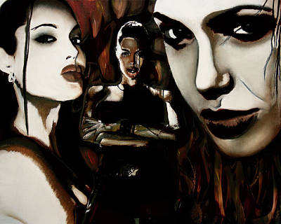 Angelina Jolie Print by Sarah Whitscell