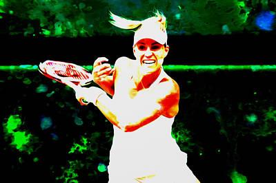 Serena Williams Digital Art - Angelique Kerber 3c by Brian Reaves