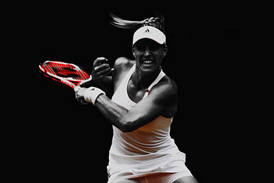 Australian Open Mixed Media - Angelique Kerber 3e by Brian Reaves
