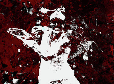Australian Open Mixed Media - Angelique Kerber 3f by Brian Reaves