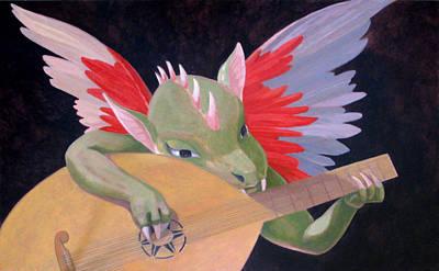 Painting - Angelo Musicante by Leonard Filgate