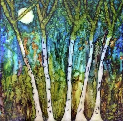 Angels Between The Trees Print by Kathryn Bonner