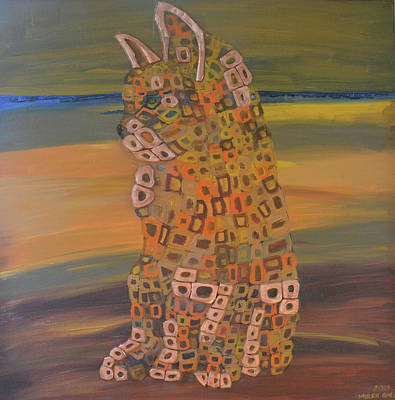 Angels Cat Original by Mirek Bialy