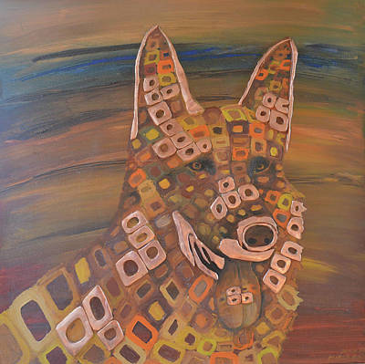 Dog Painting - Angels Dog by Mirek Bialy