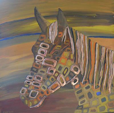 Angels Horse # 5 Original by Mirek Bialy