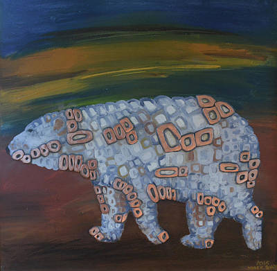 Angels Polar Bear Original by Mirek Bialy