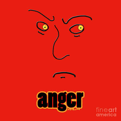 Anger Mixed Media - Anger by Methune Hively