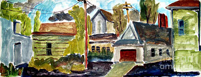 Temperament Painting - Anglican Rectory Back Alleyway by Charlie Spear