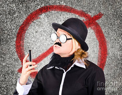 Void Photograph - Angry Businessperson With No Mobile Phone Signal by Jorgo Photography - Wall Art Gallery