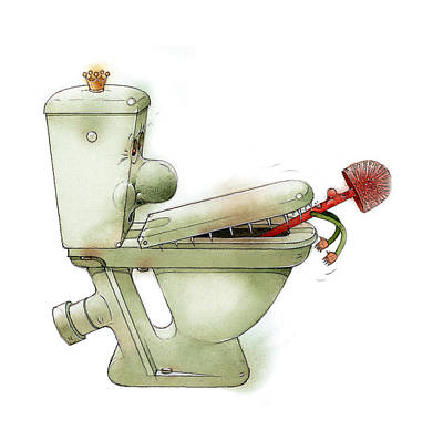 Painting - Angry Wc by Kestutis Kasparavicius