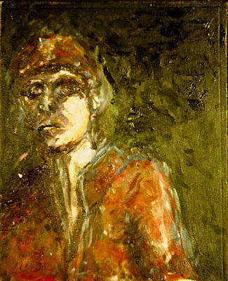 Czech Republic Painting - Angry Young Man by Michal Rezanka