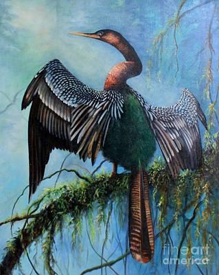 Anhinga Painting - Anhinga by Gail Salituri