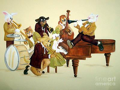 Animal Jazz Band Original by Deborah Smith